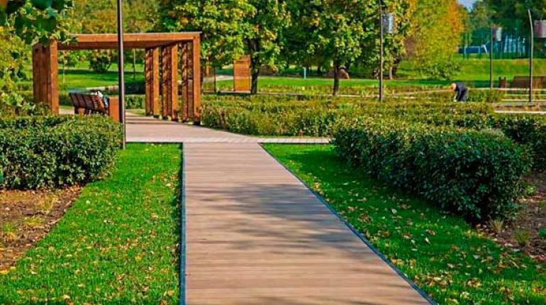 Использование террасной доски в ландшафтном дизайне
